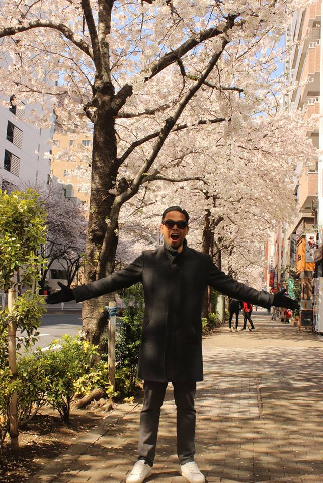 Louie in Tokyo, Japan....where he found inspiration for his Red Visual Diary Series