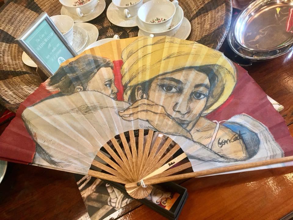 A BenCab-painted fan