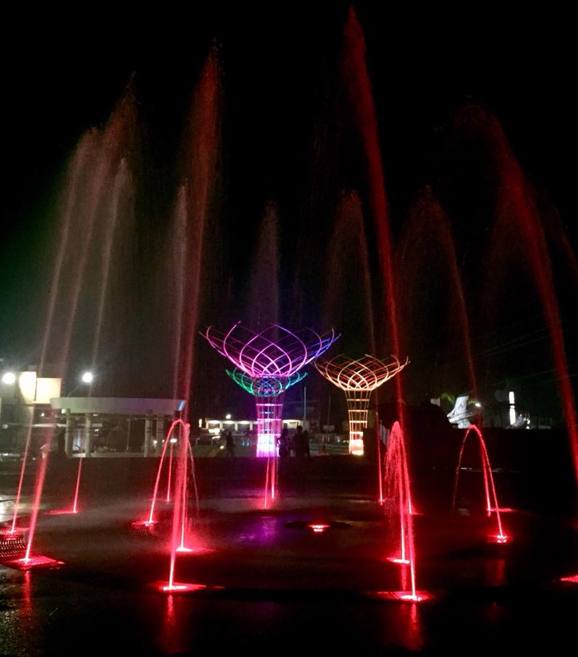 The Manolo Fortich Centennial Plaza lighted fountain