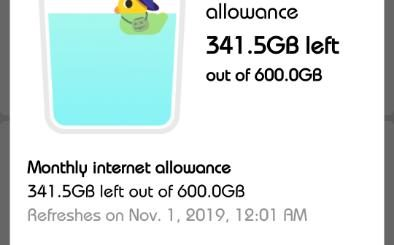 GAH Prepaid Data Usage Screenshot