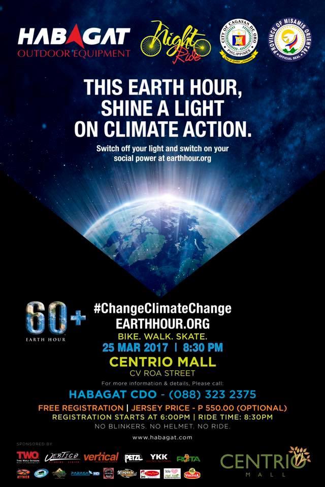 Earth Hour Night Ride 2017