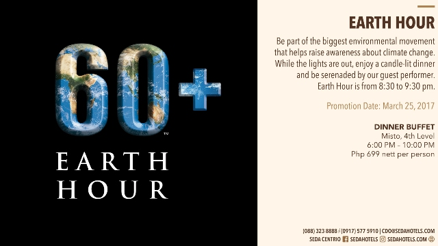 Earth Hour at Seda