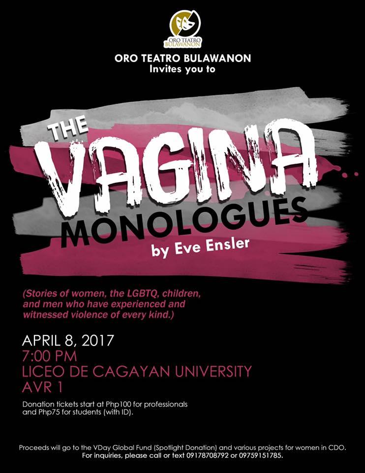 The Vagina Monologues CDO 2017