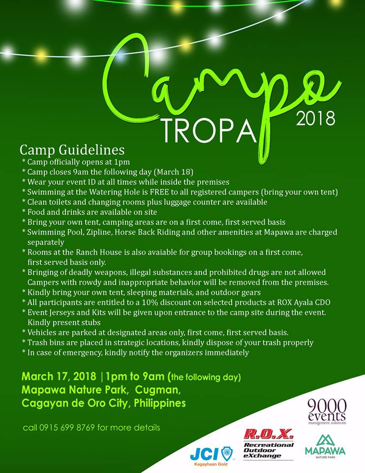 Campo Tropa Guidelines