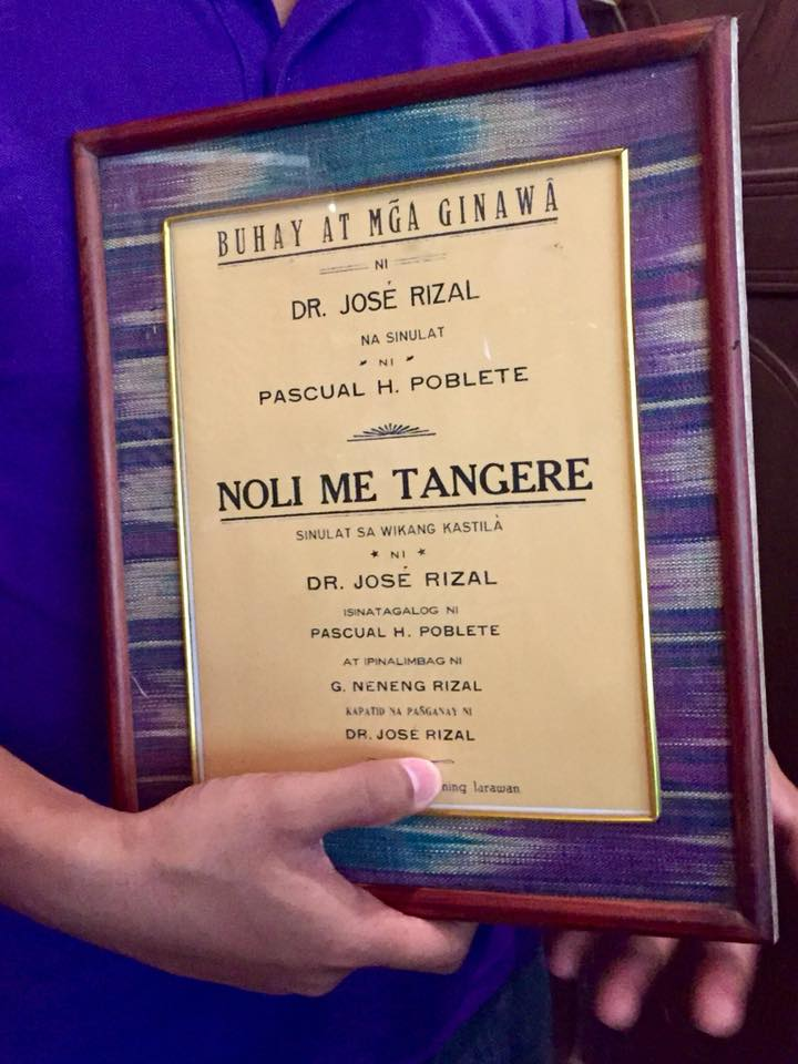 Original Spanish version of Noli Me Tangere