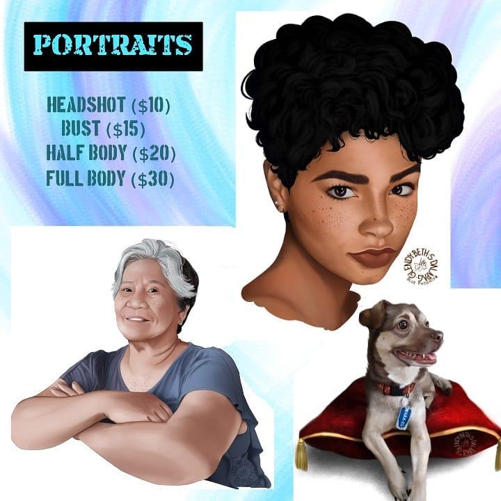 Glendy portraits rates
