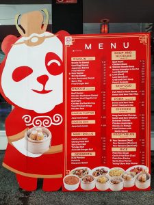 Royal Panda CDO Take-Out Menu