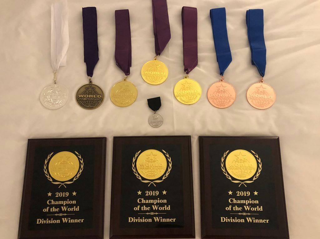 David Mercado's WCOPA Medals